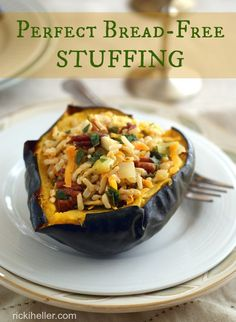 Perfect Bread-Free Stuffing: A great way to avoid refined flour and spikes in blood sugar!     #Lowglycemic #glutenfree