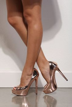 Rose Gold Mirror Mirror Heels | WindsorCloud