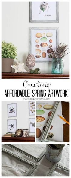 Creating Affordable Spring Artwork