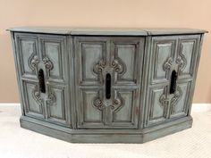 SOLD - Gorgeous Sideboard Buffet - Entertainment TV Console by madenewdesignct on Etsy https://www.etsy.com/listing/253174482/sold-gorgeous-sideboard-buffet