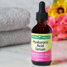 Spring Valley Hyaluronic Acid Serum, 2 Oz Image 2 of 8 Beauty Care, Beauty Tips, Beauty Skin, Beauty Hacks, Diy Beauty, Beauty Makeup, Sunburn Relief, Hyaluronic Serum, Hair Skin Nails