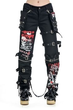 Punk Women Rock Gothic Visual Ladies Long Pants Jeans S Size P6918 | eBay