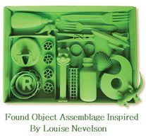 Found Object Assemblage Inspired by Louise Nevelson Lesson Plan - The goal of this project is for students to learn about some of the principles of sculpture, such as composition, form, shape and repetition.