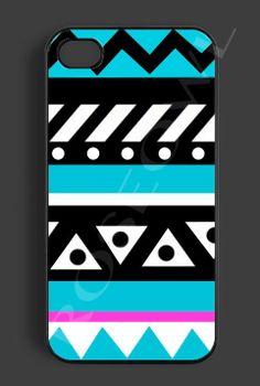 Aztec Iphone 5 Case, Iphone 5 Cover - Coolest Pastel Color Aztec Design Apple Iphone Cases, Nice Designer Protective Rubber Case For Phones