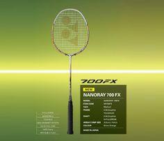 YONEX NANORAY 700 FX (NR700FX) Badminton Shop, Badminton Racket, Tennis Racket, Pattern Weights, Power Training, Japan News