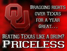 Very true...   There's only one OU.  #BOOMER SOONER.  via:  Sooner Faithful