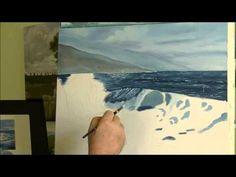 comment peindre la mer 3 -5 - YouTube