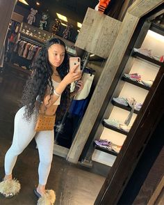Image may contain: one or more people, people standing, shoes, phone, eyeglasses and indoor Cute Swag Outfits, Chill Outfits, Dope Outfits, Trendy Outfits, Summer Outfits, Black Girl Fashion, Look Fashion, Teen Fashion, Black Girl Swag