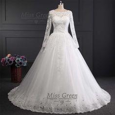 Wedding Dress With Long Sleeve Muslim Vestido De Noiva