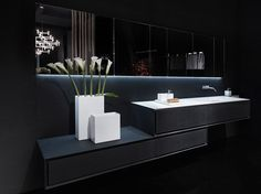 K.ONE Mobile lavabo in pietra lavica by RIFRA