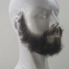 1x Fake Beard Black Brown Grey Goatee False Disguise Fancy Dress Costume Trend