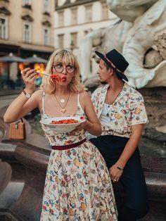 Lena Hoschek Cruise Collection Dolce Vita Dress & Sonny Shirt Dolce Vita // Pictures by Irina & Rares Peicu  #lenahoschek #lenahoschekcruisecollection #summerdress #cruisecollection #italyvibes #summerfeeling #vacationmood #holidaymood #vacationoutfit #holidaydress #summershirt #matchingoutfit #partnerlook