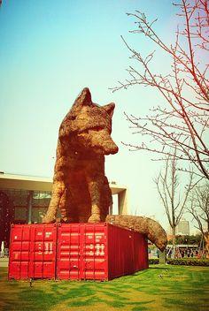 @Shanghai Jingan  sculpture park by HUAWEI MOBILE PHONE