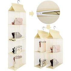 Hanging Clothes Organizer, Hanging Closet Storage, Shoe Storage Shelf, Purse Storage, Handbag Organization, Handbag Organizer, Hanging Shelves, Fabric Storage, Closet Organization