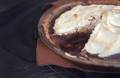 I'm thinking an easier s'mores pie would be graham cracker crust, chocolate pudding, topped with marshmallow fluff and then refrigerate