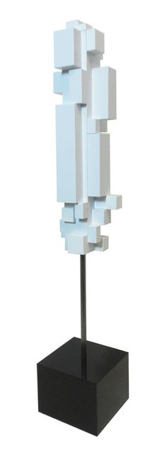"""Lumi"", by Tom Trubshaw, wood, paint, 21 3/4"", 2014"
