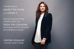 Be creative. Quote from business woman and founder of Net-A-Porter, Natalie Massenet. #online #business #ecommerce