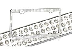 Got this for my new caar =)  ---RHINESTONE BLING LICENSE PLATE FRAMES FOR CARS, TRUCKS OR MOTORCYCLES!