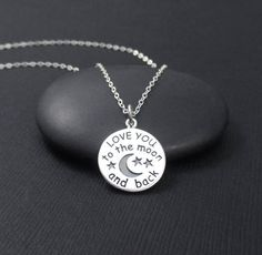 Love You To The Moon and Back Necklace, Valentines Gift, Valentine Jewelry