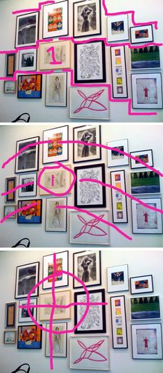 Tutorial: How to Plan a Gallery Wall. Very useful stuff if you have not put together a gallery wall before. Or even if you have she has a nice way of planning it so as not to make mistakes. 817 124 Rachael Belle ( Home ) Beauty Pin it Send Like Learn more at creativeindexblog.blogspot.com creativeindexblog.blogspot.com Print your favourite photos in black & white then get frames like these from Michaels or Ikea :) 2033 232 1 Deborah Orr For the Home Jennifer M What size are the frames and…