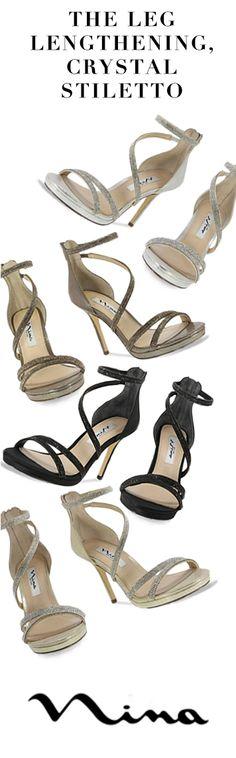 Glamorous, leg-lengthening, crystal stilettos | Nina Shoes Reed. Free Shipping. Available at http://ninashoes.com/reed_3971?utm_source=Pinterest&utm_medium=Social%20Media%20Campaign&utm_campaign=Reed%20Stilletos