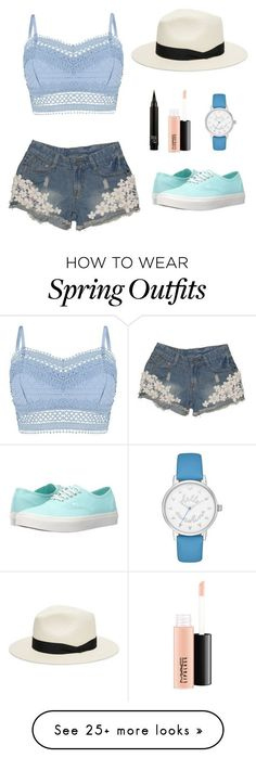 """Spring outfit"" by bellaboow-1 on Polyvore featuring Lipsy, Vans, MAC Cosmetics, rag & bone and Kate Spade"
