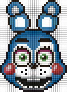 Toy Bonnie Perler Bead Pattern / Bead Sprite