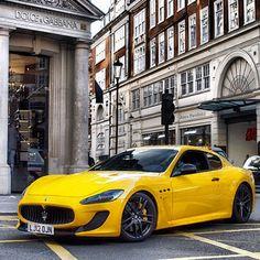 Magnificent Yellow Maserati