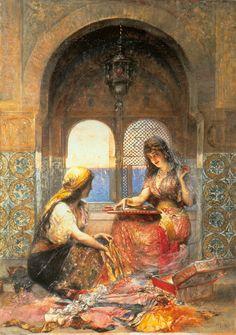 Edouard  Frederic  Wilhelm Richter  (German Painter , 1844-1913 )   –   The Final Decision