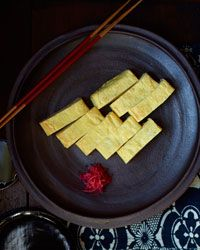 Japanese-Style Folded Omelet Recipe from Food & Wine  called tamagoyaki literally fried egg yaki is fried and tamago is egg