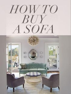 Sooner or later we all have to buy a sofa. Let our how-to guide calm your fears. >> http://www.hgtv.com/design-blog/how-to/how-to-buy-a-sofa?soc=pinterest