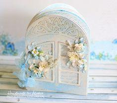 Romantyczny album-okienko Album Scrapbook, Spellbinders Cards, Window Cards, Cute Cards, Decorative Boxes, Shabby, Windows, Projects, Inspiration