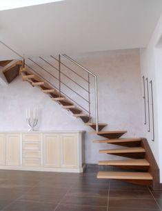 Escalier 2/4 tournant à consoles murales Plus Tole Pliée, Consoles, Stairs, Home Decor, Bouldering, Facades, Architecture, Modern Staircase, Banisters