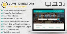 Viavi v1.0.1 – the Ultimate Script for Directory Listing in order to Provide one stop Solution for all the Searches for Consumers.  Viavi v1.0.1 PHP Script Free Download Download  Features  100% Responsive Design Powerful Admin Panel Easy Installation Dashboard Statistics Create Unlimited...