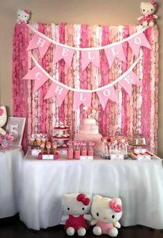 Atentendo a pedidos, aqui estão diversas sugestões para festa infantil da Hello Kitty. Hello Kitty