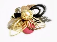 Flower Hair Barrette by UncommonRecycables on Etsy, $35.00
