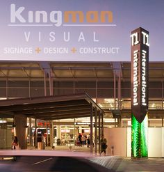 As Perth's premium signwriters, Kingman Visual specialises in crafting unique signage that stands out from the crowd. From design and manufacturing to Pylon Signage, Perth Airport, Monument Signs, Exterior Signage, Sign Writing, Signage Design, Shopping Center, Neon Signs, Construction