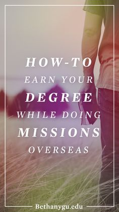 Learn how-to do missions from actual missionaries overseas while you earn your college degree from Bethany Global University. The best part ... you don't have to pay tuition (ever). Click to learn more.