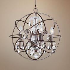 Solaris English Bronze Modern Crystorama Chandelier - #EU2C260 - Euro Style Lighting
