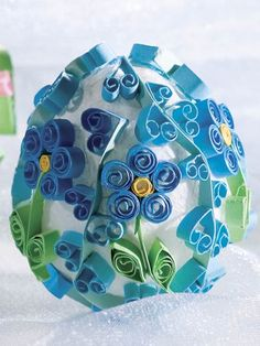 Paper Crafting - Gift Patterns - Quilled Easter Eggs