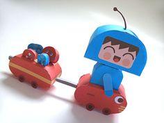 paper toy #free #printable #kids #diy #crafts