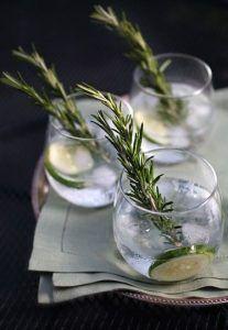 Cucumber-Rosemary Gin and Tonic - Getränke und Smothie - Cocktails Tonic Cocktails, Cocktail Gin, Spring Cocktails, Pimp Your Gin, Gin Und Tonic, Smothie, O Gin, Orange Sanguine, Gin Bar