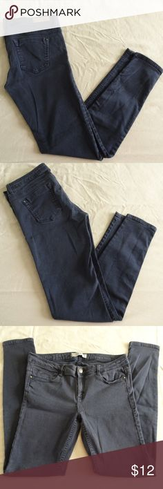 """ZARA Trafaluc Skinny Jeans some fading Well loved skinny black ZARA jeans.  Only mentionable issue is a hole in back belt look from pulling pants up, picture 5.  Other than that, sill lots of life left in these excellent quality beauties! Don't forget to bundle for a discount or make an offer Across at waist 14 1/2"""" Inseam 29""""  All items come from a non-smoking home! Zara Jeans Skinny"""