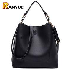 7a7aa0d21c24 High Quality Leather Women Bag Bucket Shoulder Bags Solid Big Women Handbag  Set Large Capacity Tote Bolsas Feminina Famous Brand - TakoFashion - Women s  ...