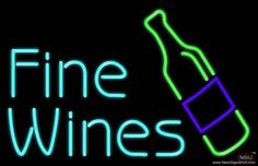 Fine Wines Real Neon Glass Tube Neon Sign,Affordable and durable,Made in USA,if you want to get it ,please click the visit button or go to my website,you can get everything neon from us. based in CA USA, free shipping and 1 year warranty , 24/7 service