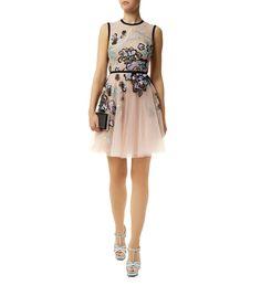 Elie Saab Floral Embroidered Tulle Dress | Harrods.com