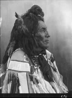 A portrait of Long Otter, a Crow man. Collection Richard Throssel.  Date Original:1902-1933.  University of Wyoming. American Heritage Center.