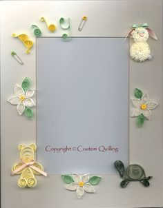 Quilled Baby Matte Pattern by Denise Cameron Custom Quilling Supplies