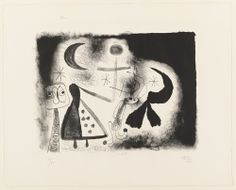 Joan Miró, Plate 5 from Album 13 (1948).