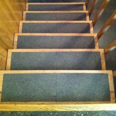 DIY Stair Treads out of Flor Tiles - would love to see this in a colorful pattern.